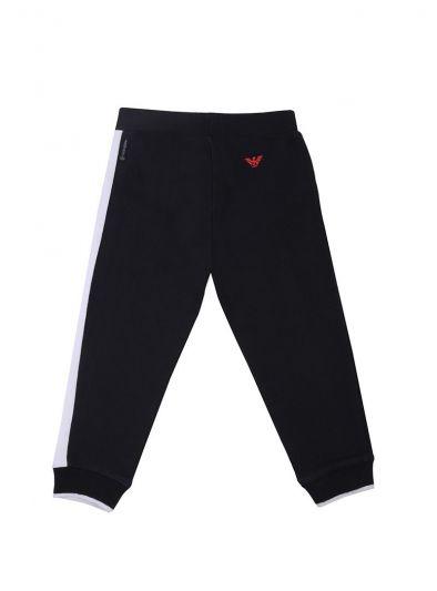 ARMANI JUNIOR BLACK & WHITE TRACK PANTS