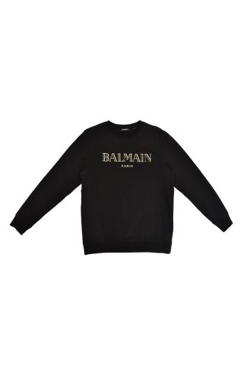 BALMAIN GOLD LOGO SWEATSHIRT