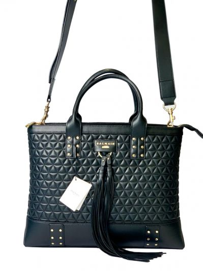 BALMAIN QUILTED DOMAINE TOTE BAG