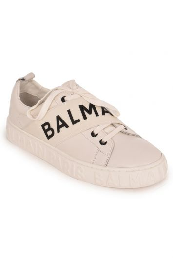 BALMAIN WHITE LOGO SNEAKERS