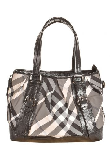 BURBERRY BEAT CHECK LOWRY TOTE BAG