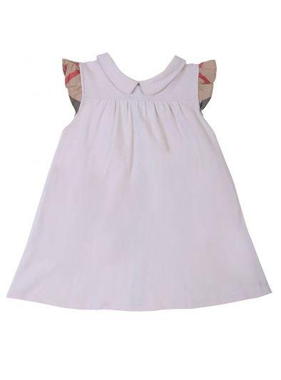 BURBERRY PASTEL PINK A- LINE PIQUE DRESS