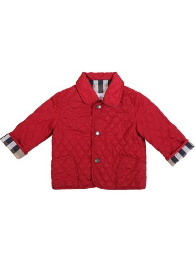 BURBERRY RED QUILTED JACKET