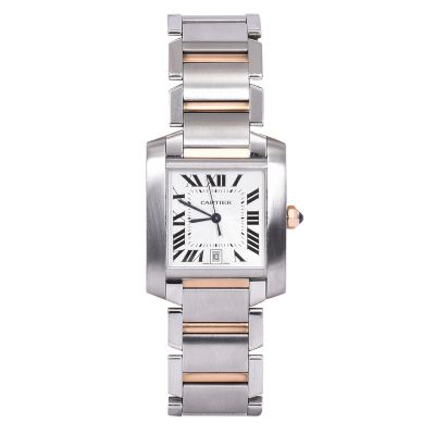 CARTIER TANK FRANCAISE STEEL GOLD AUTOMATIC WATCH