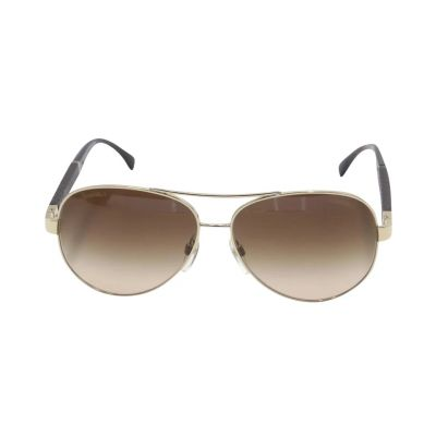 CHANEL QUILTED LEATHER AVIATOR CC SUNGLASSES