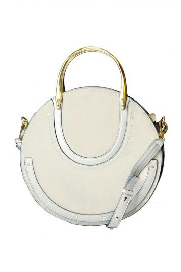 CHLOE PIXIE LARGE SUEDE & LEATHER BAG