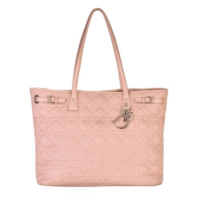 CHRISTIAN DIOR CANNAGE QUILTED PANAREA TOTE BAG