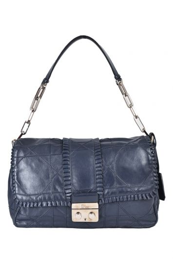 CHRISTIAN DIOR QUILTED RUFFLE NEW LOCK FLAP BAG