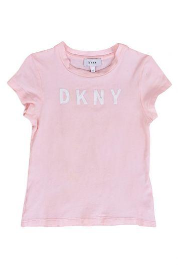 DKNY BABY PINK LOGO T-SHIRT