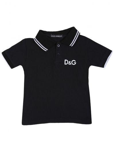 DOLCE & GABBANA BLACK LOGO T SHIRT