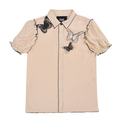 DOLCE & GABBANA BUTTERFLY EMBROIDERED SHIRT