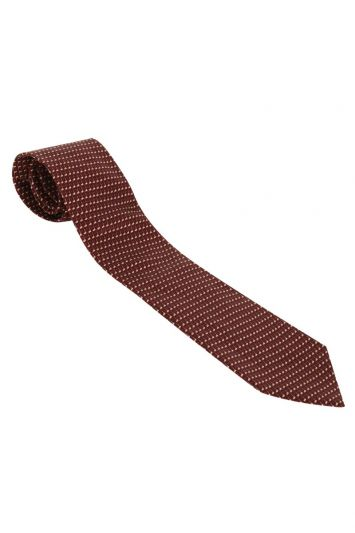DUNHILL EMBROIDERED SILK TIE