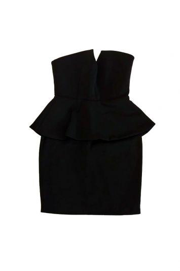 EMPORIO ARMANI BLACK TUBE DRESS