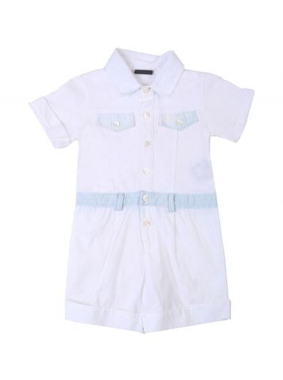 FENDI WHITE AND BABY BLUE PLAYSUIT