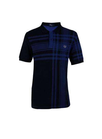 FRED PERRY BLUE STRIPED T SHIRT