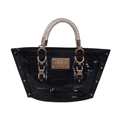 GIANNI VERSACE PATENT LEATHER QUILTED BAG