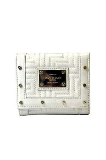 GIANNI VERSACE QUILTED BI FOLD WALLET
