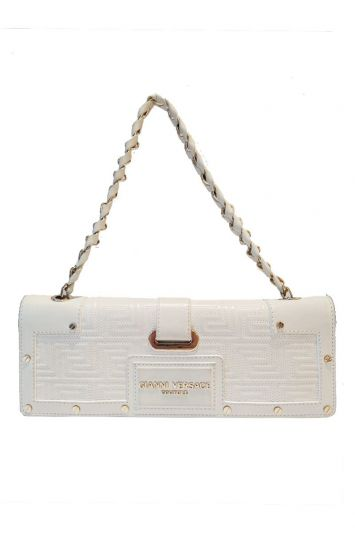 GIANNI VERSACE QUILTED FLAP CHAIN BAG