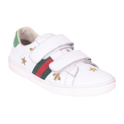 GUCCI ACE SNEAKERS WITH BEES & STARS