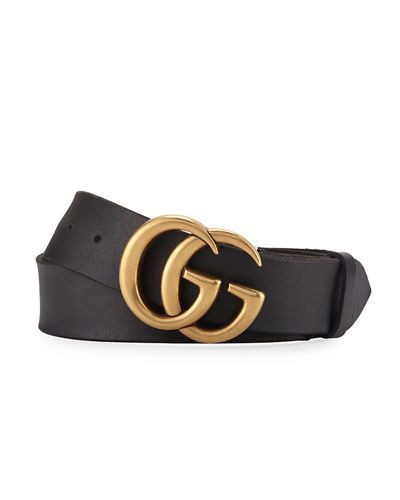 GUCCI GG  WITH DOUBLE G BUCKLE BELT