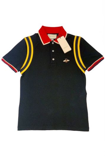 GUCCI NAVY BLUE BEE POLO
