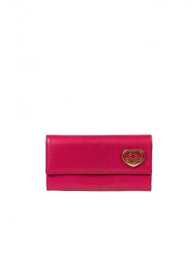 GUCCI PINK GG LEATHER WALLET