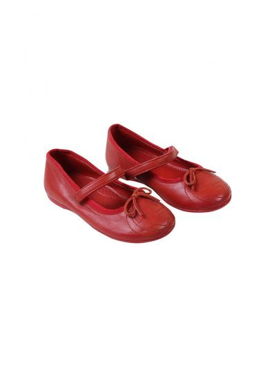 GUCCI RED LEATHER GG VELCRO PUMPS