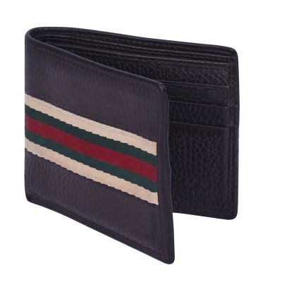 GUCCI WEB LEATHER WALLET