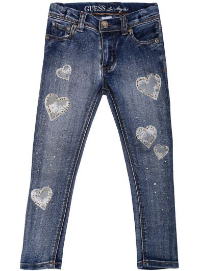 GUESS BLUE EMBROIDERED JEANS