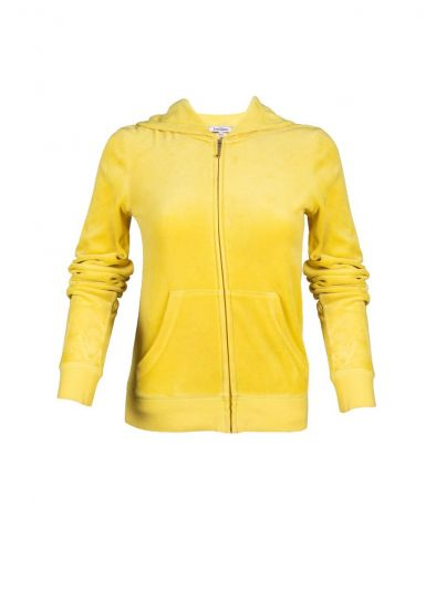 JUICY COUTURE YELLOW VELOUR JACKET