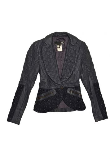 JUST CAVALLI QUILTED LEATHER JACKET