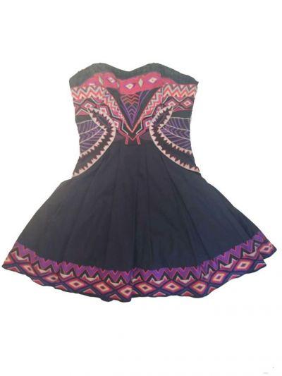 KAREN MILLEN BLACK AZTEC TRIBAL TUTU DRESS