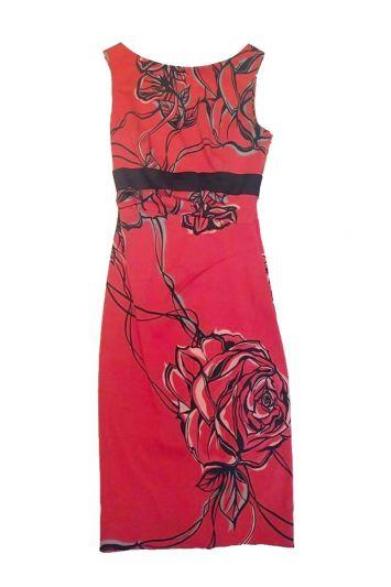 KAREN MILLEN ROSE PRINTED DRESS