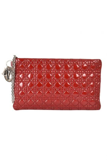 LADY DIOR QUILTED CANNAGE CLUTCH