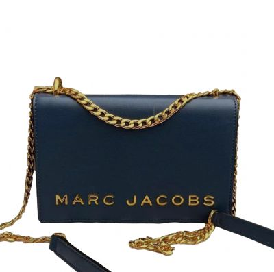 MARC JACOBS DOUBLE TAKE LEATHER LOGO CROSSBOSY BAG