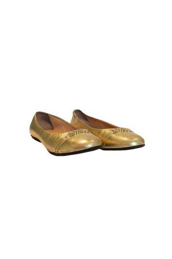 MOSCHINO GOLDEN BALLET FLATS