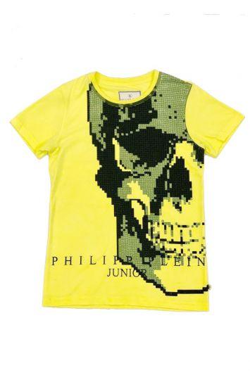 PHILIPP PLEIN NEON GREEN STUDDED T SHIRT