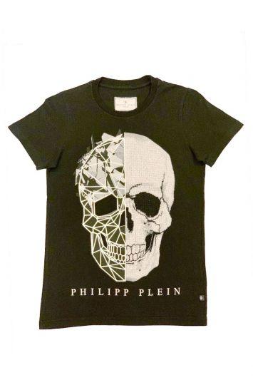 PHILIPP PLEIN STUDDED SKULL T SHIRT