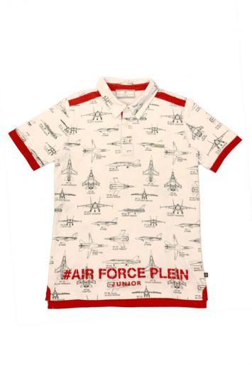 PHILIPP PLEIN WHITE & RED AIRFORCE T SHIRT