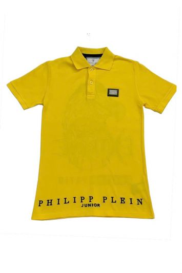 PHILIPP PLEIN YELLOW EXTREME EAGLE POLO