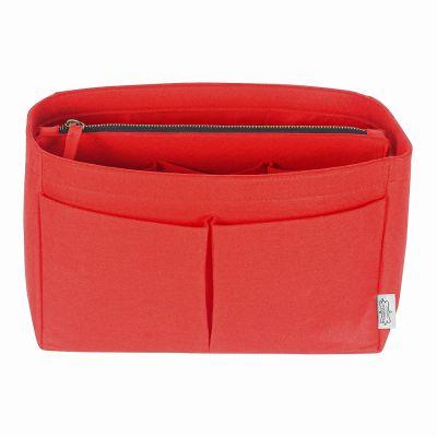POCHETTE DE LUXE RED WITH INSERT BAG ORGANIZER