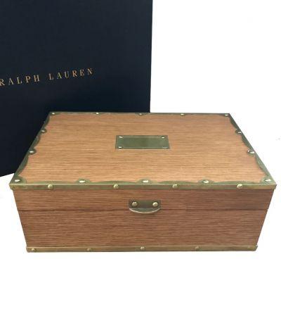 RALPH LAUREN HOME BAYFIELD OAK BOX