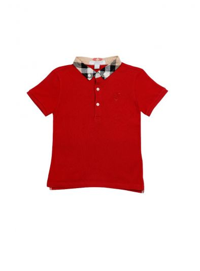 RED MONOGRAM POLO T SHIRT BY BURBERRY