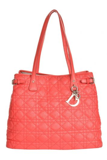 CHRISTIAN DIOR CANNAGE QUILTED PANAREA TOTE BAG RT77-10