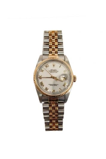 THE ROLEX OYSTER PERPETUAL STAINLESS STEEL& 18K GOLD JUBILEE BRACELET AUTOMATIC WATCH