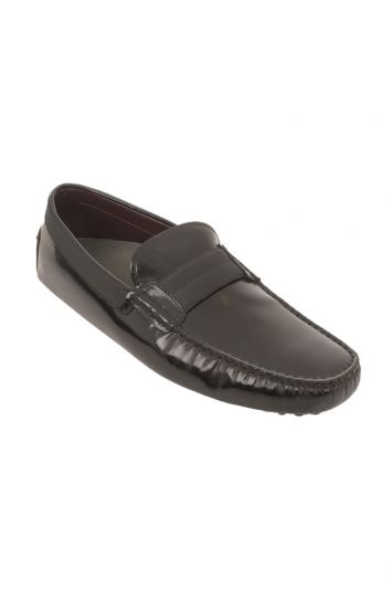 TODS GOMMINO LOGO PLAQUE LOAFERS