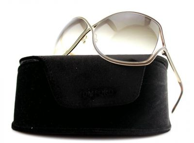 TOM FORD RICKIE BROWN GOLD BUTTERFLY SUNGLASSES