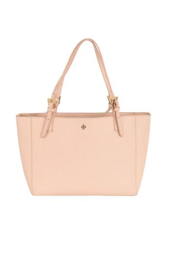 TORY BURCH IVORY EMERSON BUCKLE TOTE BAG